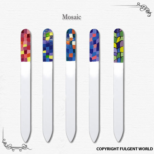 painted crystal glass nail files