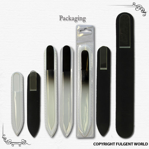 crystal glass nail files packing