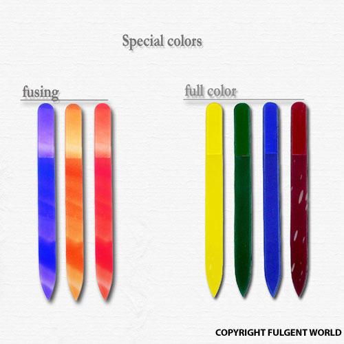 color crystal glass nail files